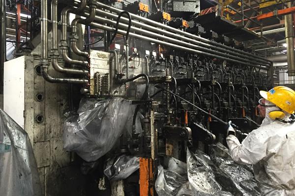 intervento di pulizia industriale idrodinamica