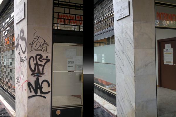 urban cleaning of graffiti