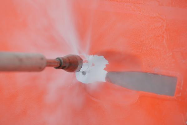 Sverniciatura con idropulitrice fino a 2500 bar